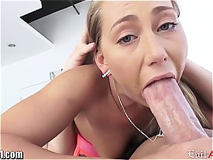 Carter Cruise gets her bootie tongued