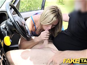 faux cab Mum with natural bra-stuffers gets meaty brit rod