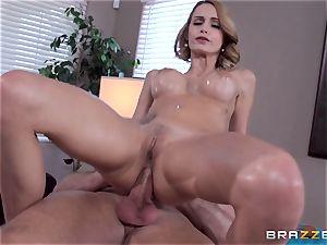 Erica Fontes ravaged in her brown sphincter