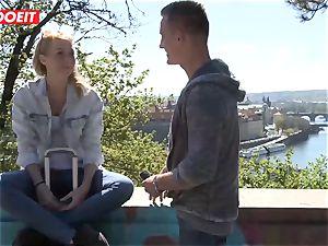 Russian babe plumbed rock hard By Czech chisel - LETSDOEIT