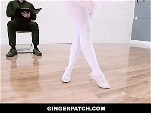 GingerPatch - sandy-haired Ballerina riding Judges massive cock