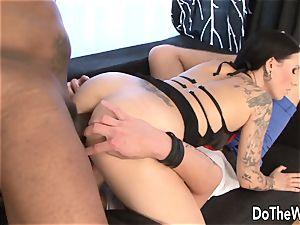 super-steamy wife Lulu Jung takes large ebony schlong in her bootie