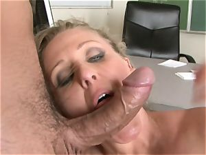 Julia Ann is a hardcore milf who wants to put her poon on a rigid wood