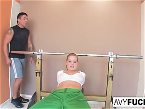 buxom Avy Scott gets a plumbing with her exercise routine