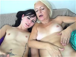 OLDNANNY light-haired mature and nubile sapphic