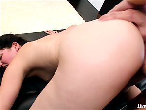LiveGonzo Bobbi Starr steamy black-haired Does ass fucking For fun