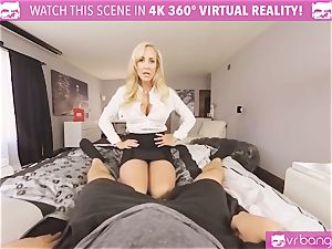 VRBangers.com-MILF is wedging a vibrator in her vulva