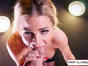 watch Jessa Rhodes taking a phat dick down her gullet