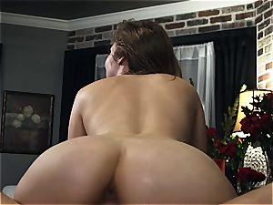 Lena Paul boinking her boy in Amazon position