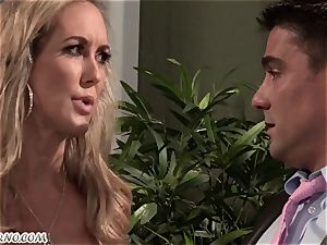Mature chick Brandi love luvs youthful fellows and bang-out with them