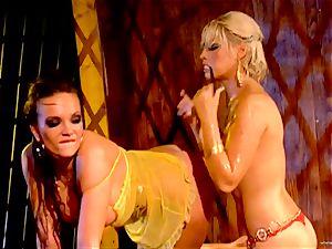 super-steamy Bridgette B tortures her counterparts moist crevice