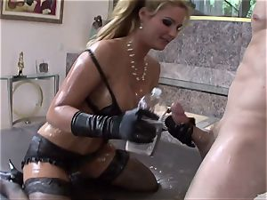 Phoenix Marie get her assets filled with lube